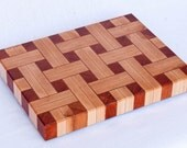 Double Maple with Cherry end grain basketweave chopping board