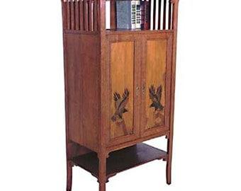 119 Unusual Oak Arts & Crafts Cabinet c. 1910