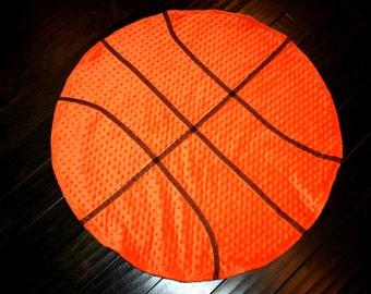 Basketball Minky Dot Blanket