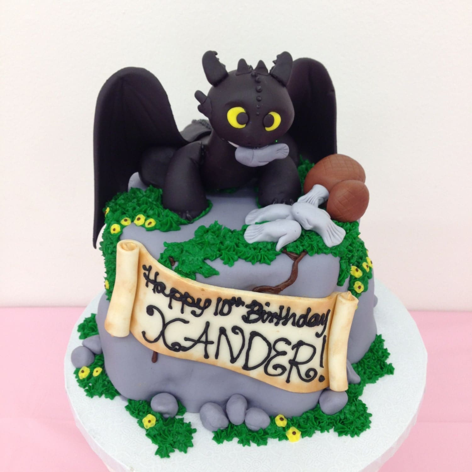 How To Make Toothless Cake Topper
