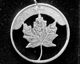 Canada Maple Leaf Fine Silver Necklace
