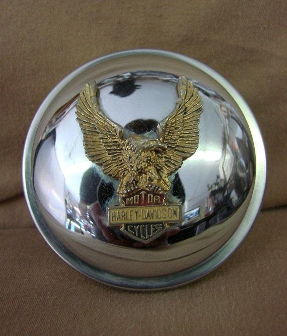 Vintage Gas Cap : Vintage harley davidson motorcycle gas cap chrome gold