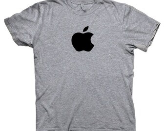 Apple logo T-shirt iMac iPhone Apple computer Fan geek Youth Adult size Shirts S-3XL