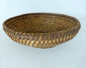 RESERVED FOR MICHELLE - Antique French Rye Coiled Basket, Home Decor