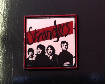 Vintage Rare The Stranglers 80s Mirror Button / Pin - Punk Collectible