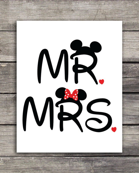 mr and mrs mickey and minnie wedding graphics use to print. Black Bedroom Furniture Sets. Home Design Ideas