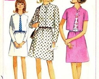 Simplicity 7490 On the Go Suit & Blouse 1967 / SZ7JP UNCUT