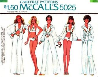 McCall's 5025 Youthful Shirt, Swimsuit & Pants + Transfer 1976 / SZ10 UNCUT