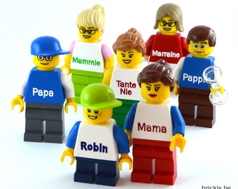 LEGO® Minifigure custom personalised for you engraved with your name