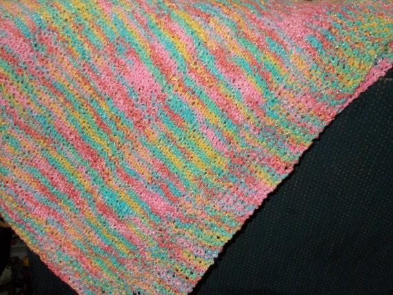 Baby Cot Blanket Knitting Pattern : Hand-knit. soft diamond pattern baby blanket. by MatthewsKnitworks