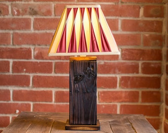 Reclaimed Scorched Wood Lamp