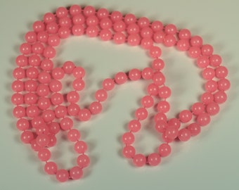 Bubblegum Pink Beaded Necklace