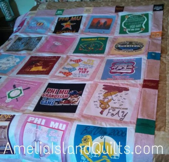 T Shirt Quilt Pattern Queen : Items similar to Tilted T-Shirt Quilt Easy Quilt Pattern with Templates Included. Crib, Throw ...