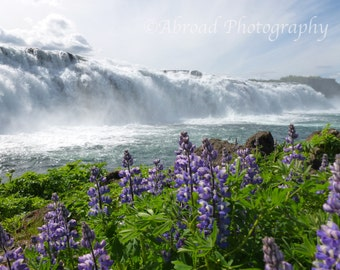 Iceland Photograph, Europe Photography, Waterfall Photography, Faxi Iceland Print, Travel Photography, Wall Art