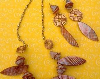 Coral natural shells and stones.