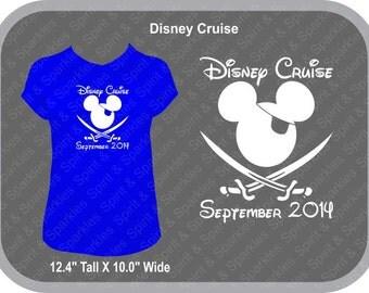 Disney Cruise Mickey Pirate Ladies T-Shirt