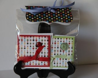 Bright Buttons Mini Gift Card Set of 4