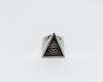 Illuminati Sterling Silver 925, All seeing eye