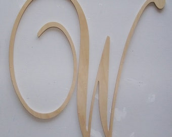 24 inch unfinished wood letters wedding and nursery decor