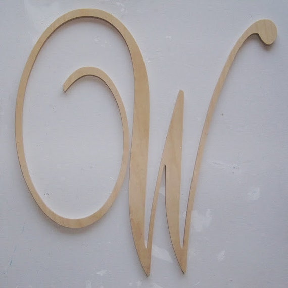 24 inch Unfinished Wood Letters - Wedding and Nursery Decor