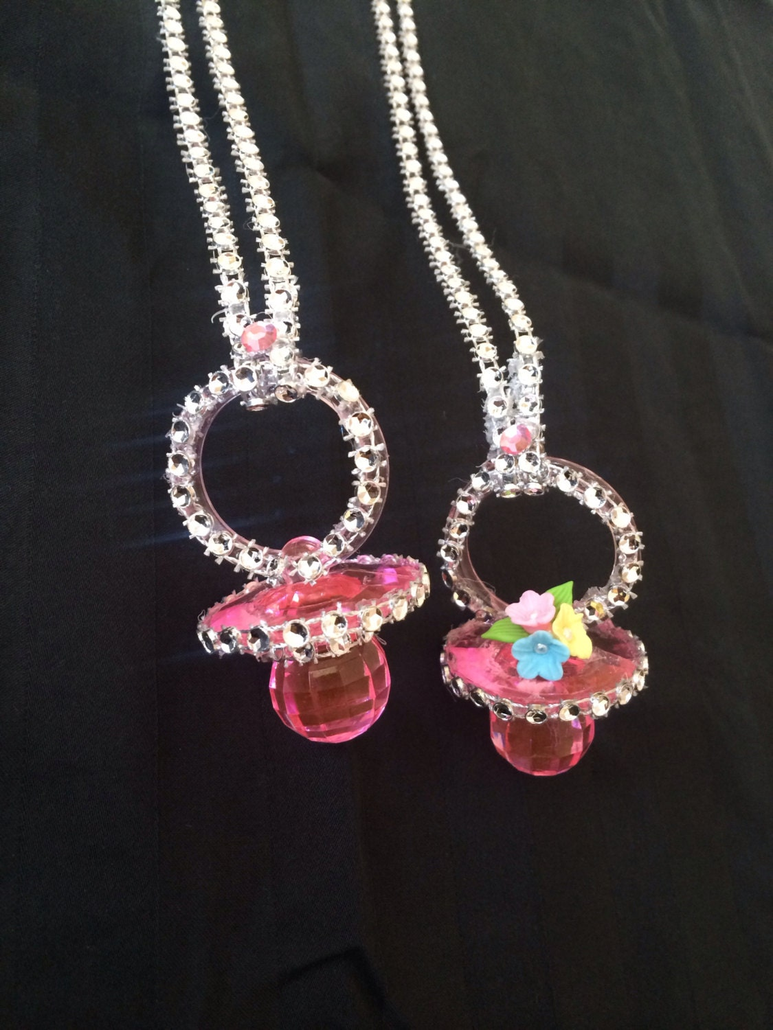 baby shower pacifier necklaces baby shower favors by southflower