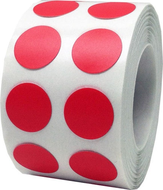 1000 Red Dot Stickers Small 1 2 Inch Round Adhesive