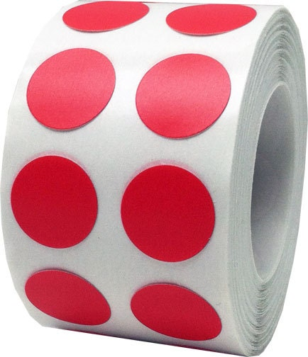 1000 red dot stickers small 1 2 inch round adhesive for Half inch round labels