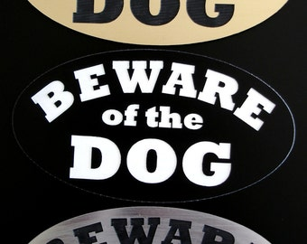 Beware of Dog Sign - Laser-Engraved - UV-Rated