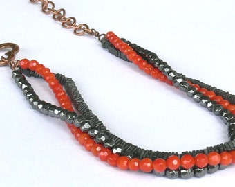 BaRock: Statement necklace Copper Coral