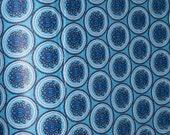 """African Wax Print Fabric Blue White 100% Cotton Per Yard 45"""" wide/ African Fashion/Home Decor/Upholstery/Retro"""