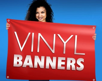 Custom Vinyl Banner Printing for Weddings, Crafts, Shows, Graduation, Birthday, Events and More with Free Shipping