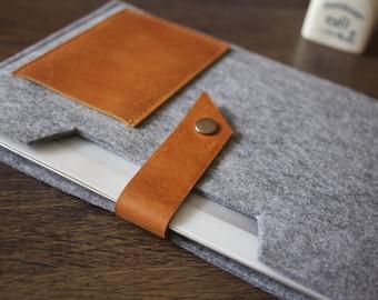 iPad Air Case, Felt iPad Sleeve, 100% Wool Felt Made Double Bag iPad Case Covers Google Nexus Sleeve