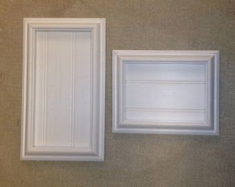 Custom tile frame, made to hold your tiles. Oak, Pvc or Pvc painted finish.