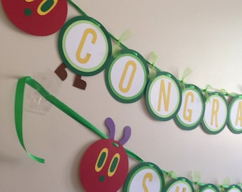 Hungry caterpillar baby shower or birthday banner!!!