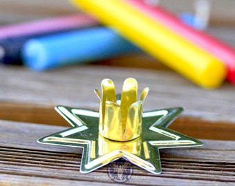 Gold Star Candle Holder - For spell & chime candles