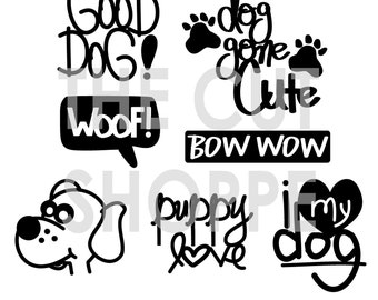 The For the Dogs cut file includes 7 dog themed designs, that can be used on your scrapbooking and papercrafting projects.