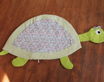 Playmat, turtle, stuffed animal, blanket