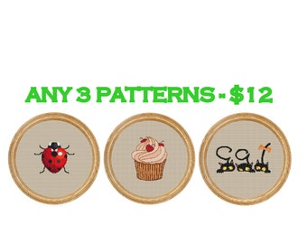 Any 3 patterns - 12 dollars