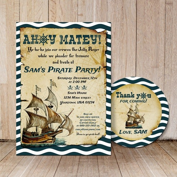 Pirate Birthday Party Invitations gangcraftnet – Kids Pirate Party Invitations