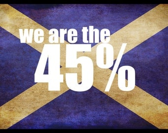 We are the 45% scottish independence yes freedom scots uk vote referendum scotland power mens womens TSHIRT t-shirt 2