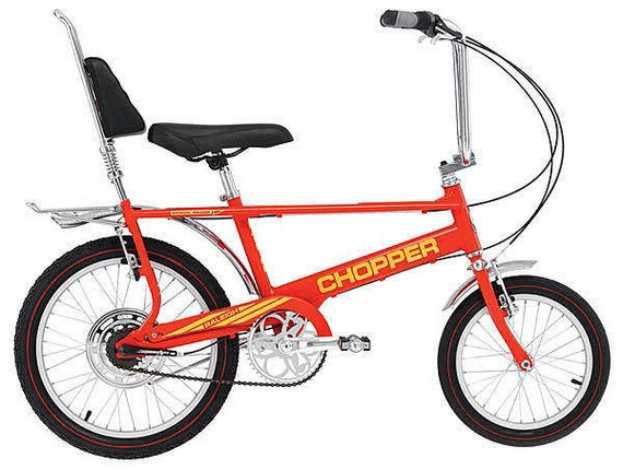 chopper bike fahrrad 80er jahre retro stil der 1970er jahre. Black Bedroom Furniture Sets. Home Design Ideas