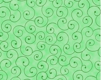 Green Swirl Fabric, Green Fabric, Fabric  by the Yard, sewing fabric, quilting fabric,