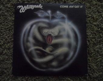 Vintage Whitesnake Record Vinyl Lp Come An Get It 1981