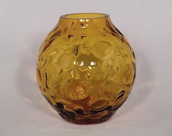 Czech Bohemian Borske sklo Art Glass Blown Vase