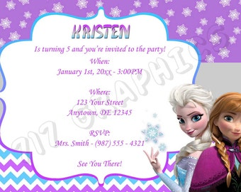 Frozen Birthday Invitation - Printable