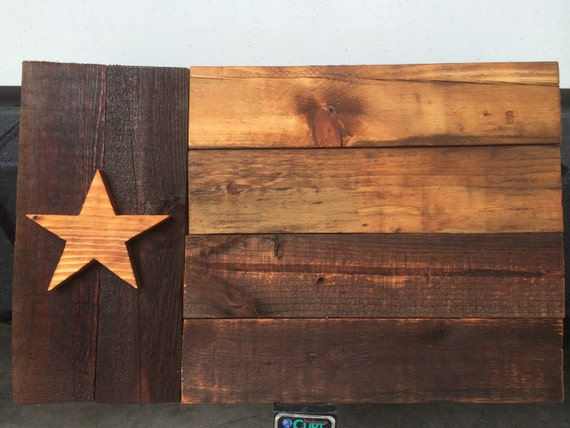 Texas Flag Stained wood pallet 23x14