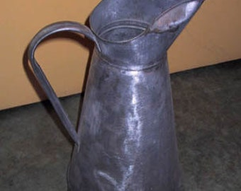 Antique French Zinc Water and Milk Pitcher