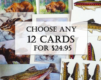 12 greeting cards of your choice