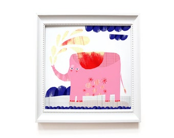Art print | Pink Elephant