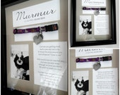 Pet Memorial Shadow Box with Collar *Customization Available*